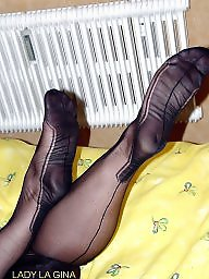 Nylons, Mature stockings, Nylon feet, Feet