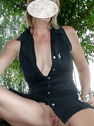 Upskirt mature, My wife, Upskirt, Amateur mature