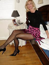stockings women wearing Amateur mature