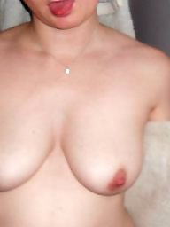 Titted brunette, Tit, wife, Wife bath, Wife tits, Wife tit, My tit