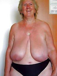saggy Bbw tits mature