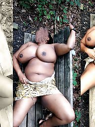 Ebony amateur, Collage, Park