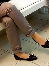 Feet, Candid voyeur, Candid feet, Flats, Flat, Shoes