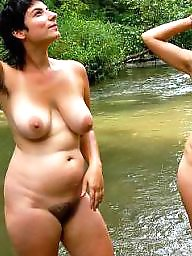 moms outdoors Nude
