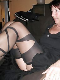 Mature bra, Granny stockings