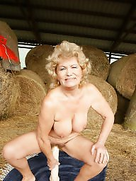 Hairy granny, Granny, Old granny, Hairy mature, Huge, Farm
