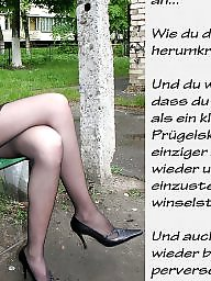 German captions, Femdom captions, Teen femdom, German, Femdom caption, Teen captions