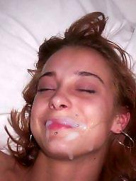 Amateur facial, Teen facials, Cum facial