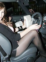 Voyeur, Car, Pantyhose, Stockings, Stocking