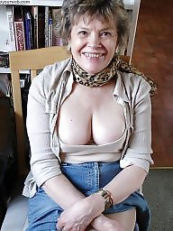 Braless, Voyeur, Tits, Older, Amateur tits, Older women