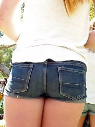 Hidden cam, Short shorts, Shorts, Ass crack, Short, Public ass