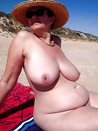 Beach mature, Mature beach, Mature boobs, Beach boobs