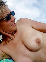 Beach mature, Mature beach, Natural, Natural tits