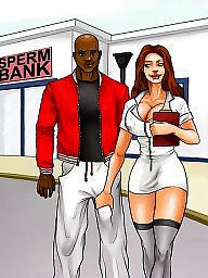 Interracial cartoon, Interracial cartoons, Sperm
