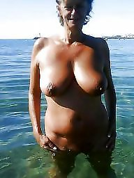 Beach mature, Mature beach, Saggy mature, Skinny mature, Saggy boobs, Saggy