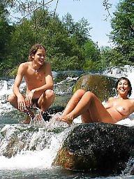 Public milf, Milf public, River, Water
