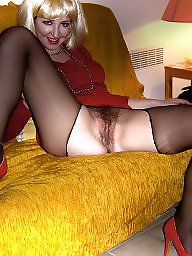 Pretty, French, Set, Blonde milf