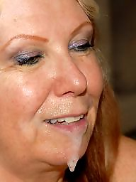 Black cock, Old granny, Mature facial, Granny facial
