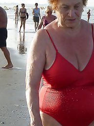 Granny beach, Grannies, Granny, Granny boobs, Beach granny