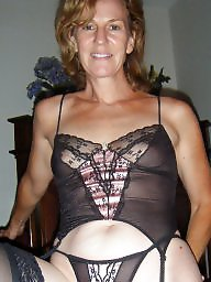 Milf in thong panties and fishnets