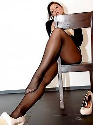 Feet, Milf, Stockings, Milf stockings
