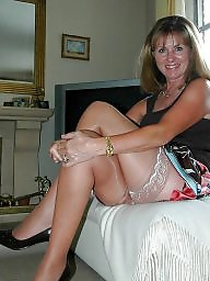 Mature legs and upskirt