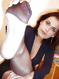 Nylon feet, Feet, Nylon, Nylons, Stockings, Stocking feet