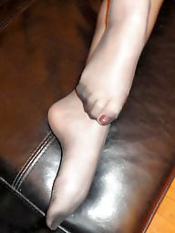 Nylon feet, Nipples, Nylons, Nylon, Amateur feet, Stocking feet