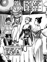 Femdom cartoon, Toon, Anal, Bdsm cartoons, Toons, Strapon cartoon