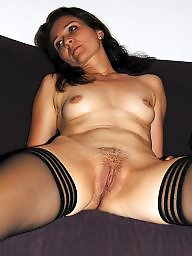 Spread, Mature stockings, Spreading