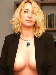 Mature big tits, Cream, Big tit, Blonde mature, Mature, Mature blonde