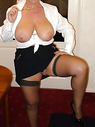 Mature tits, Dressed, Mature big tits, Dress
