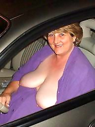Big ass, Car, Natural tits, In car