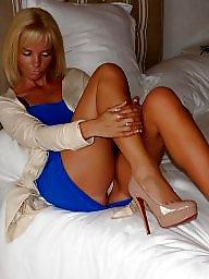 Mature upskirt, Legs, Heels, Upskirt