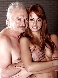 Grandpa, Young and old, Young blowjob, Model, Old and young, Erica