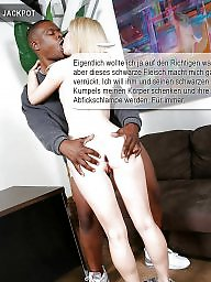 Interracial, German, Caption, Ebony, Captions