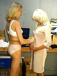 Mature lesbians, Mature pantyhose, Strip, Stripped, Stripping, Pantyhose mature
