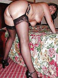 Hairy mature, Mature stockings, Hairy stockings