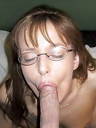 Milf blowjob, Glasses, Glass