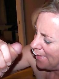Moms, Mom, Mature blowjob
