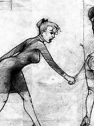 Spanking, Drawings, Bdsm cartoon, Drawing, Cartoon, Spank