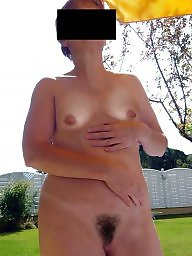 Hairy wife, Mature hairy, Garden, Mature naked