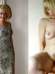 dressed Mature undressed amateur