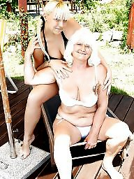 Lesbians, Old young, Lesbian, Mature lesbians, Old, Group sex