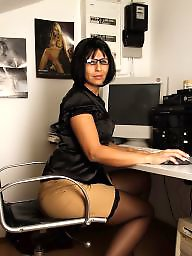 Office, Mature stockings