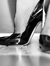 Heels, High heels, Black stockings