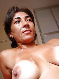 Mature facial, Wife, Brazilian, Latin, Mature wife