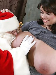 Christmas, Mature big tits, Mature stocking, Natural, Mature boobs