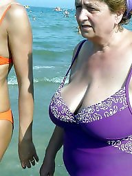 Granny beach, Granny, Granny boobs, Mature beach, Beach granny, Busty granny