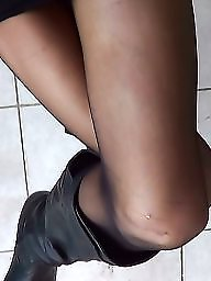 Boots, Amateur boots, Mature boots, Mature stockings, Skirt, Mature skirt